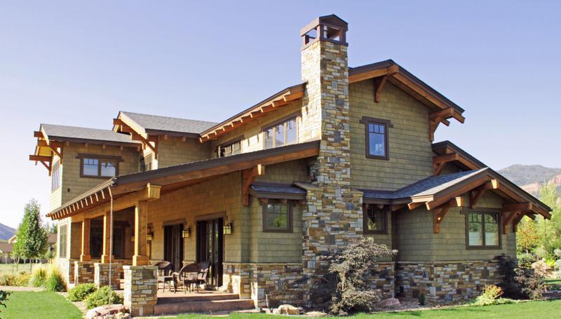 New custom home construction by hawkeye builders of durango co for New construction craftsman style homes