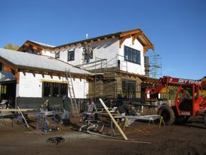 Craftsman style home during construction