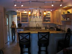 Kitchen remodel with maple custom cabinets